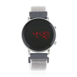 Zegarek LED na parcianym pasku na rzep Z2802