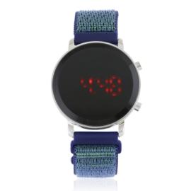 Zegarek LED na parcianym pasku na rzep Z2803