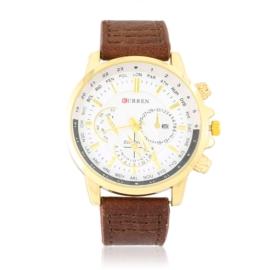 Zegarek męski na brązowym pasku Z2814
