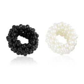 Gumki perełkowe black white 12szt/op OG1437