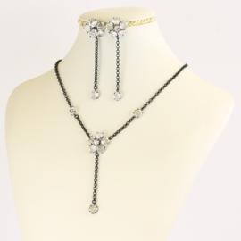 Komplet biżuterii czeskiej wieczorowej - KOM571