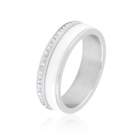 Obrączka ceramiczna z kryształkami Xuping PP3746