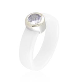 Pierścionek ceramiczny z oczkiem Xuping PP3750