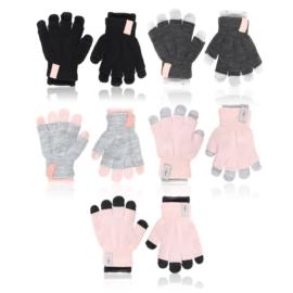 Rękawiczki dziecięce 2w1mix 18cm 6szt/op RK801