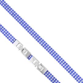 Bransoletka trzyrzędowa niebieska Xuping BP10304
