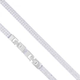 Bransoletka trzyrzędowa kryształ Xuping BP10305