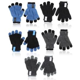 Rękawiczki dziecięce 2w1 mix 16cm 6szt/op RK802