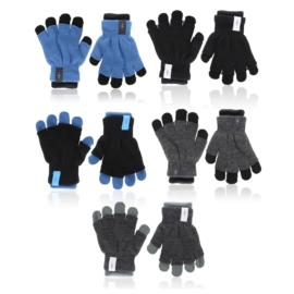 Rękawiczki dziecięce 2w1 mix 18cm 6szt/op RK803