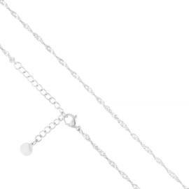 Łańcuszek stalowy singapur 40cm Moonriver LAP2809