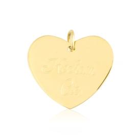 Przywieszka stalowa serce KOCHAM CIĘ PRZ3202