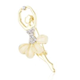 Broszka z kryształkami baletnica BR814