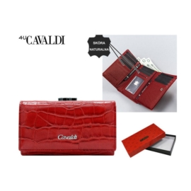 Portfel damski skórzany PX23-CR Red P1499