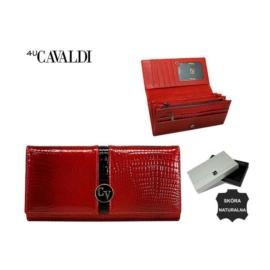 Portfel damski skórzany H27-3-RS Red P1505