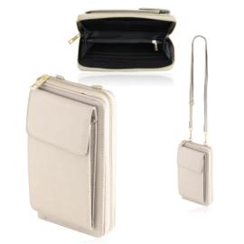 Torebka na telefon portfel crossbody beżowa TD718