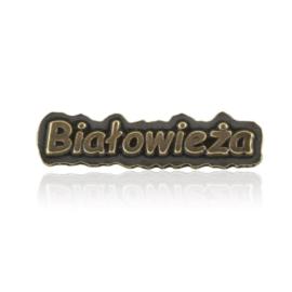 Figurka metalowa napis BIAŁOWIEŻA 10szt/op - FR298