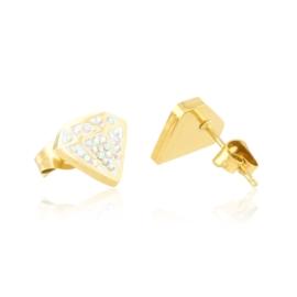 Kolczyki stalowe sztyfty diamenty Xuping EAP20879