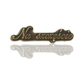 Figurka metalowa napis NA SZCZĘŚCIE 10szt/op FR301