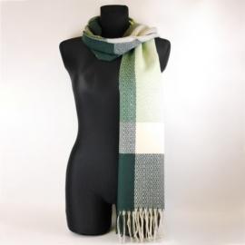 Szalik damski wzorzysty zielony WO1501