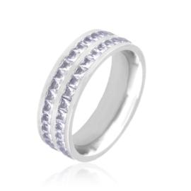 Obrączka stalowa z kryształkami Xuping PP3856