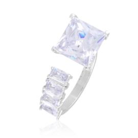 Pierścionek stalowy z kryształkami Xuping PP3862