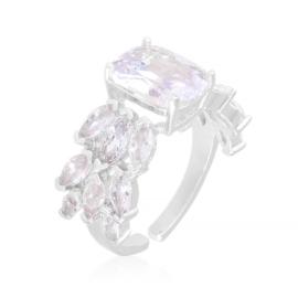 Pierścionek stalowy z kryształkami Xuping PP3863