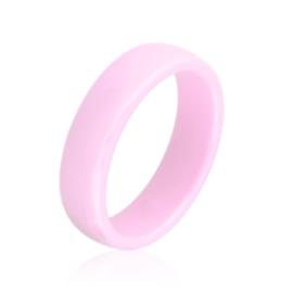 Obrączka ceramiczna różowa 6mm Xuping PP3871