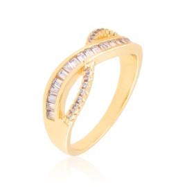 Pierścionek codzienny z kryształkami Xuping PP3882