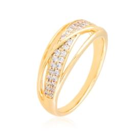 Pierścionek codzienny z kryształkami Xuping PP3885