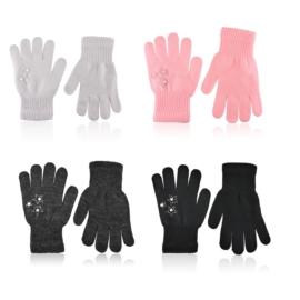Rękawiczki dziecięce perełki 12szt 17cm RK827