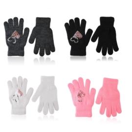 Rękawiczki dziecięce serduszka 12szt 16cm RK829