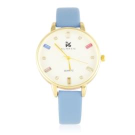 Zegarek damski na pasku - niebieski Z2936