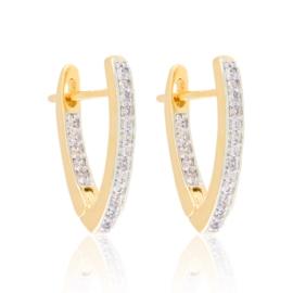 Kolczyki kły z kryształkami Xuping EAP21102