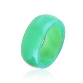 Obrączka szklana zielona PIER152