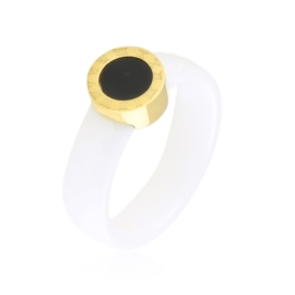 Pierścionek ceramiczny tarcza Xuping PP3891