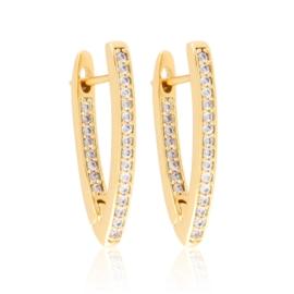 Kolczyki kły z kryształkami Xuping EAP21152