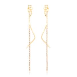 Kolczyki wiszące z kryształkami Xuping EAP21166
