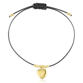 Bransoletka stalowa na sznurku Aisadi BP10747