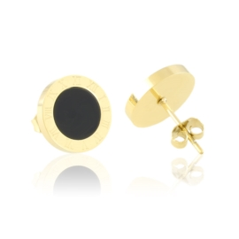 Kolczyki stalowe sztyfty tarcze Aisadi EAP21239