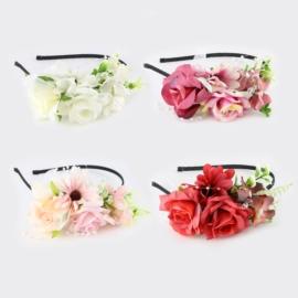 Opaski wianki z kwiatami 12szt/op OPS1334