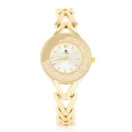 Zegarek damski na bransolecie z kryształkami Z2953