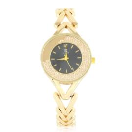 Zegarek damski na bransolecie z kryształkami Z2954