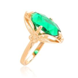 Pierścionek z zielonym oczkiem XupingPP3901