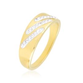 Pierścionek stalowy z kryształkami Xuping PP3909