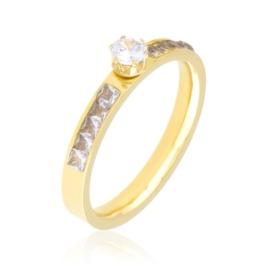 Pierścionek stalowy zaręczynowy Xuping PP3911
