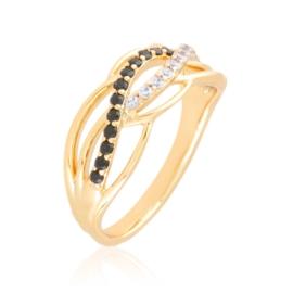 Pierścionek codzienny z kryształkami Xuping PP3924