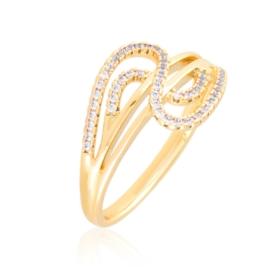 Pierścionek codzienny z kryształkami Xuping PP3925