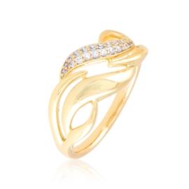 Pierścionek codzienny z kryształkami Xuping PP3926