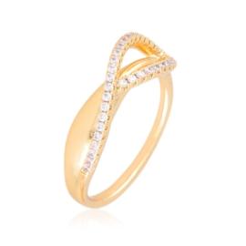 Pierścionek codzienny z kryształkami Xuping PP3927
