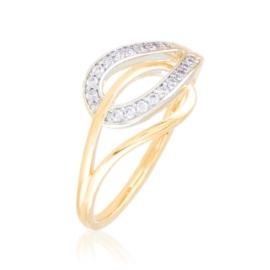 Pierścionek codzienny z kryształkami Xuping PP3928