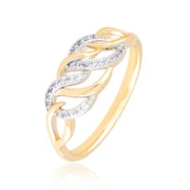 Pierścionek codzienny z kryształkami Xuping PP3929